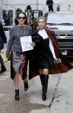 SOPHIE and CHARLOTTE BICKLEY Leaves Taoray Wang Fashion Show in New York 02/11/2017