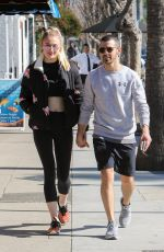 SOPHIE TURNER and Joe Jonas Out and About in Los Angeles 02/14/2017