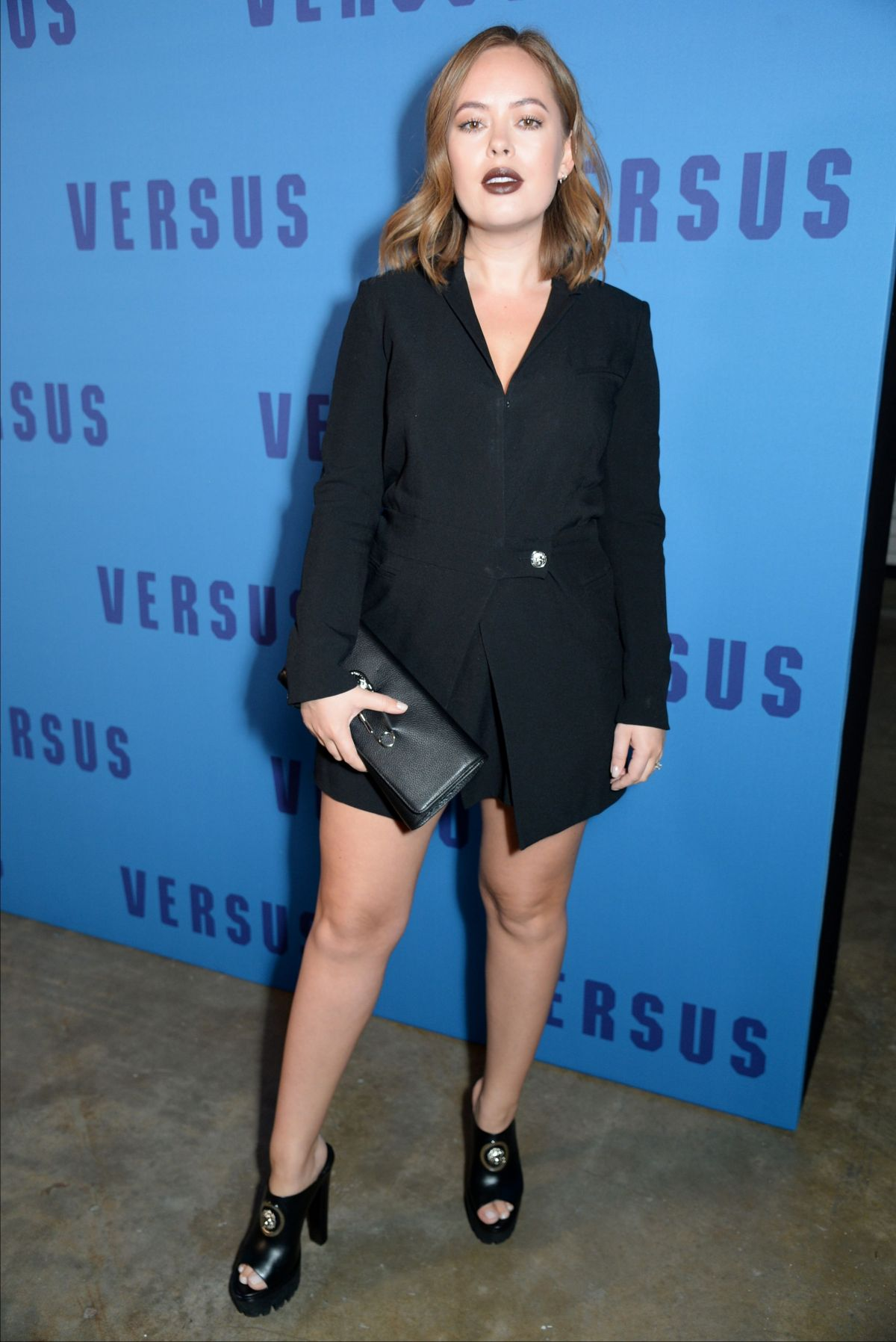 TANYA BURR at Versus Versace Fashion Show in London 02/18/2017