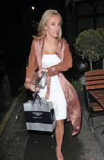 TIFFANY WATSON Arrives at El Pirata Tapas Bar in Mayfair 02/09/2017
