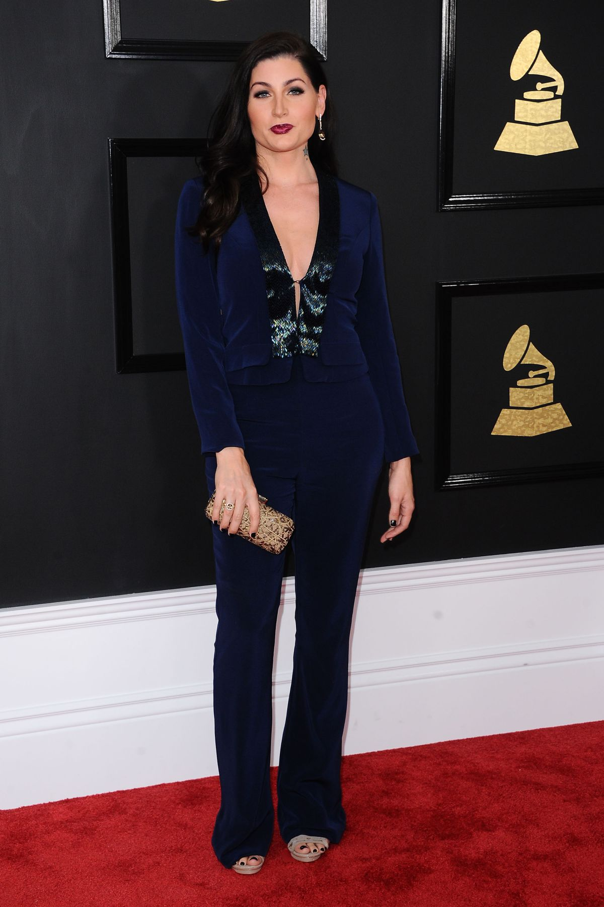 TRACE LYSETTE at 59th Annual Grammy Awards in Los Angeles 02/12/2017