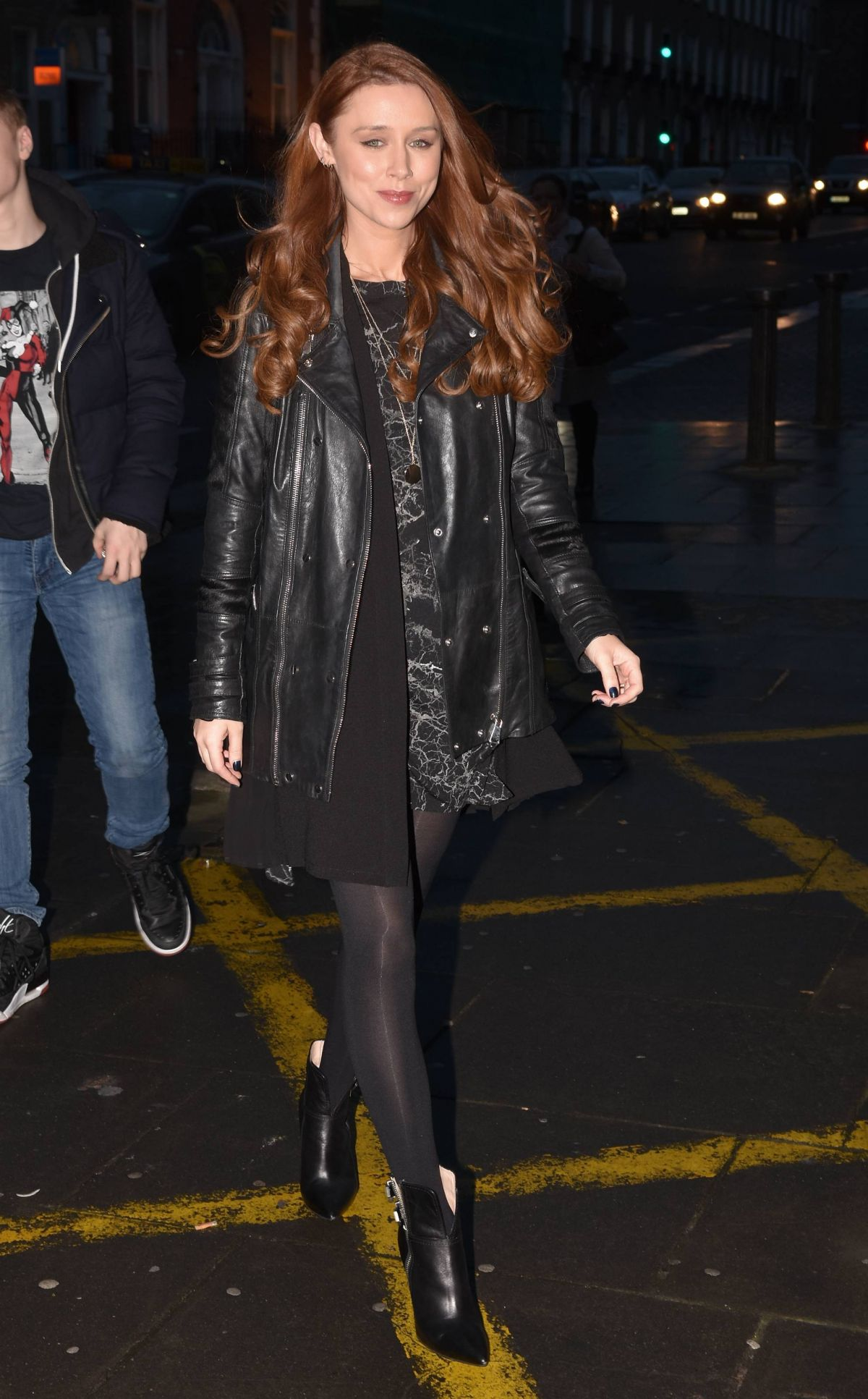 UNA HEALY Arrives at Sugar Club in Dublin 02/16/2017