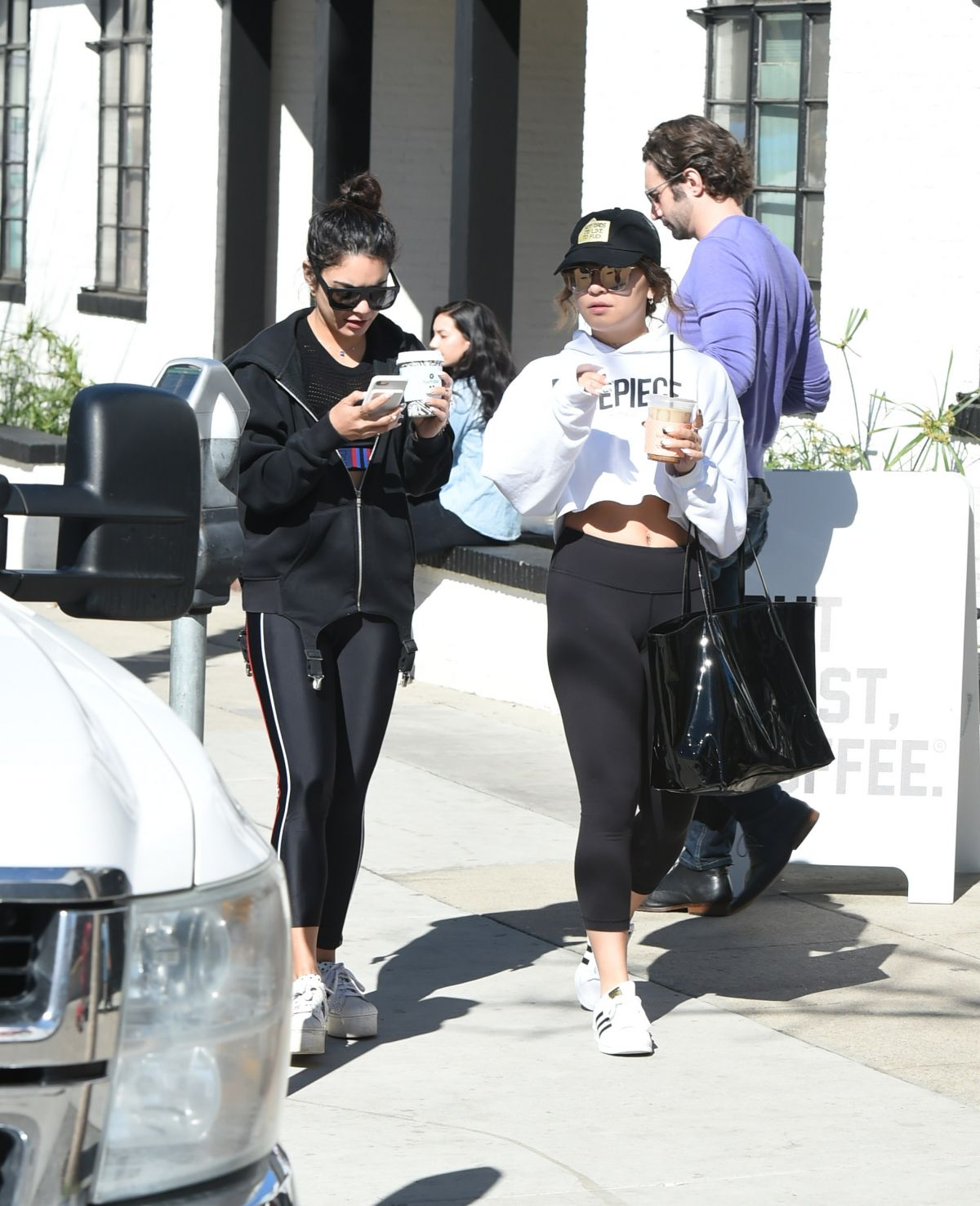 VANESSA and STELLA HUDGENS Out in Los Angeles 02/12/2017