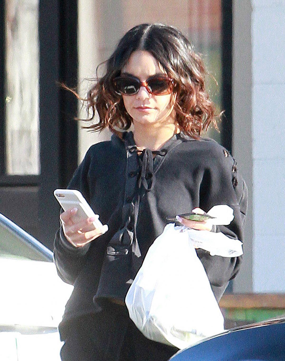 VANESSA HUDGENS Leaves a Restaurant in Los Angeles 02/23/2017