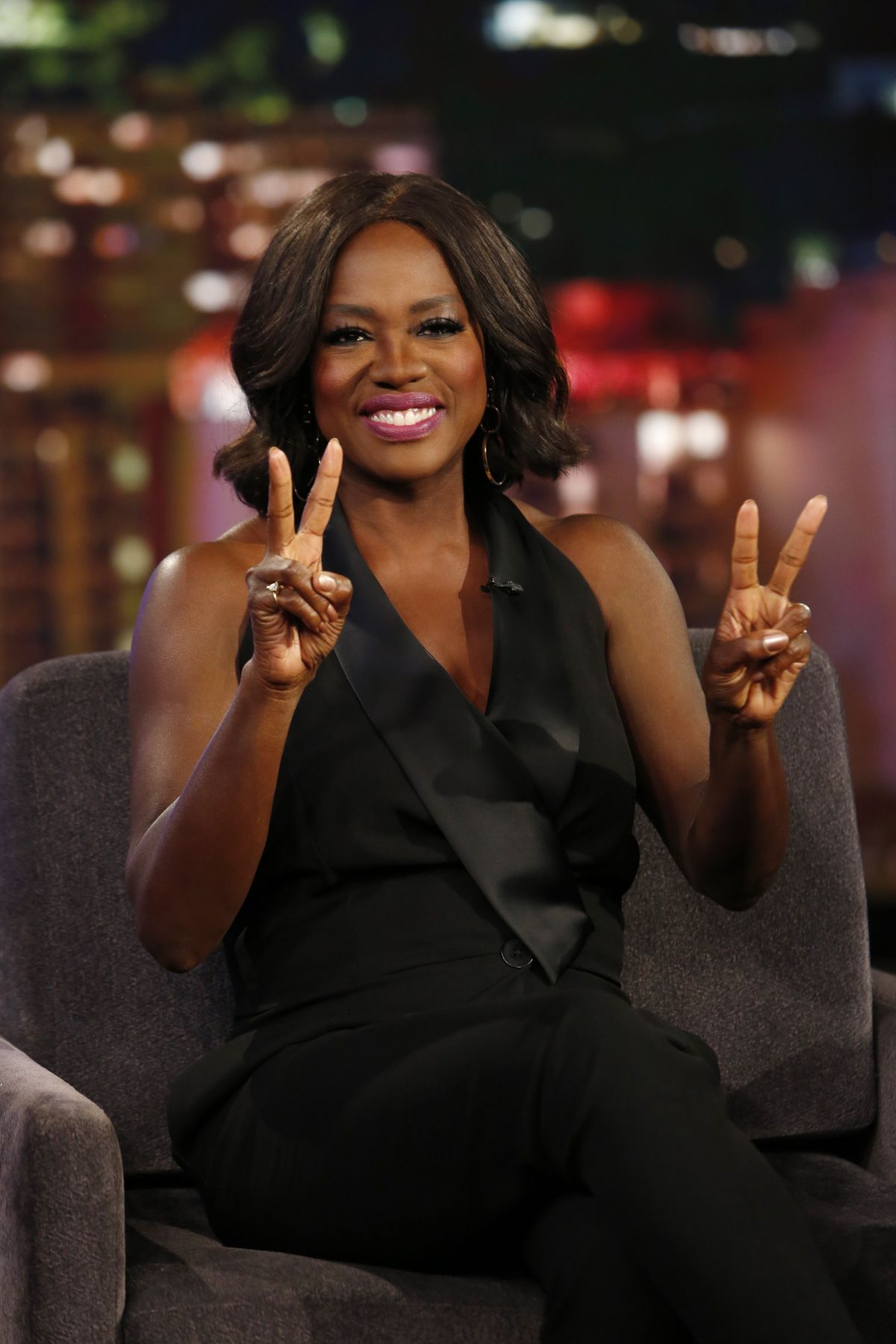 VIOLA DAVIS at Jimmy Kimmel Live 02/16/2017