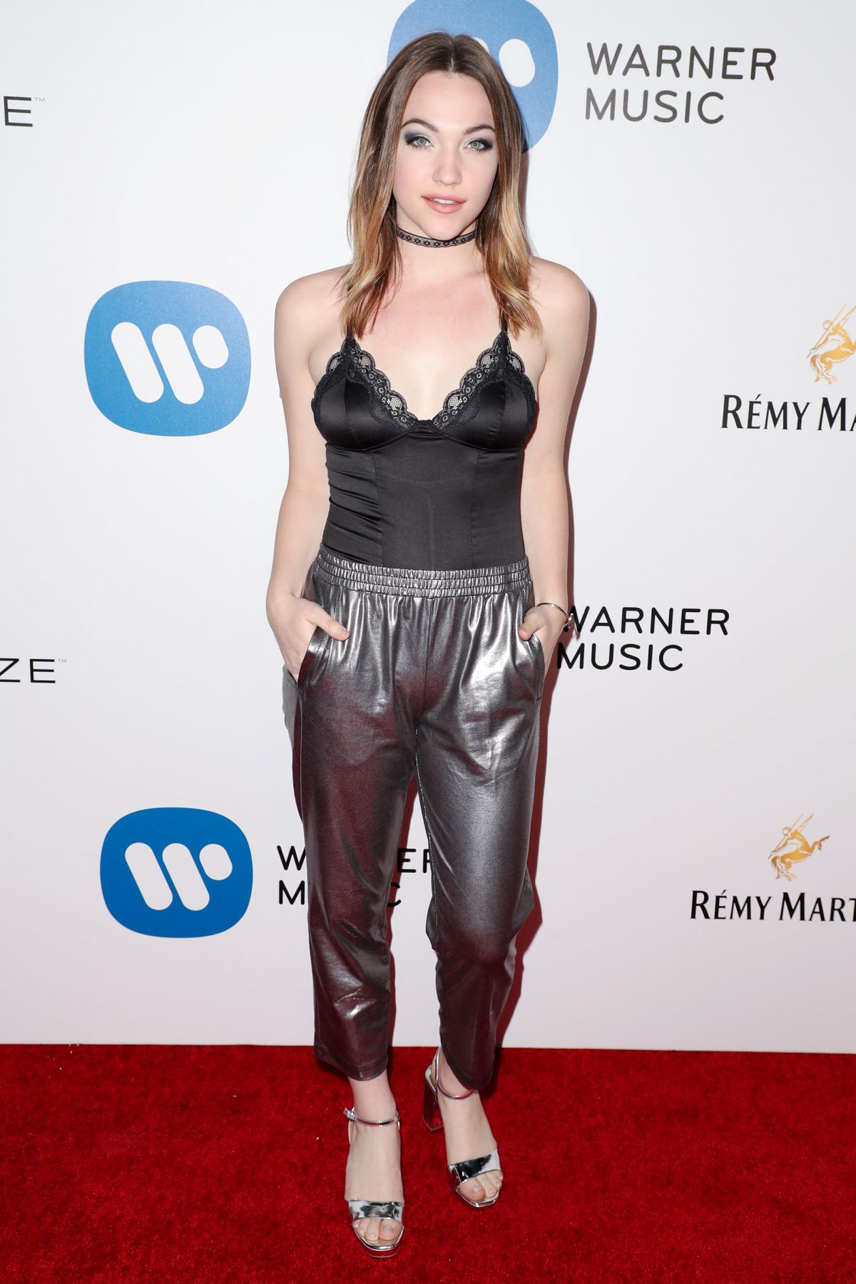 VIOLETT BEANE at Warner Music Group Grammy After Party in Los Angeles 02/12/2017