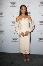 ZOE SALDANA at Cadillac's 89th Annual Academy Awards Celebration in Los Angeles 02/23/2017