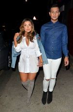 ABIGAIL CLARKE and Junaid Ahmed Night Out in London 03/25/2017