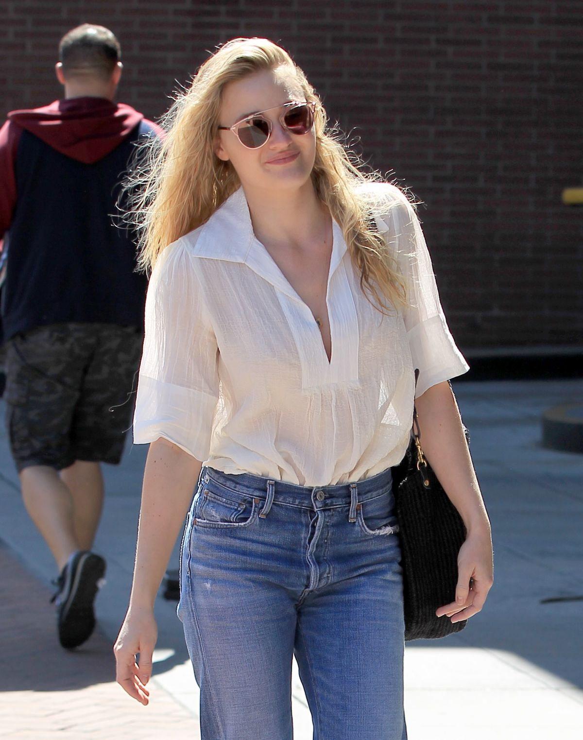 AJ MICHALKA in Jeans Out Shopping in Beverly Hills 03/24/2017
