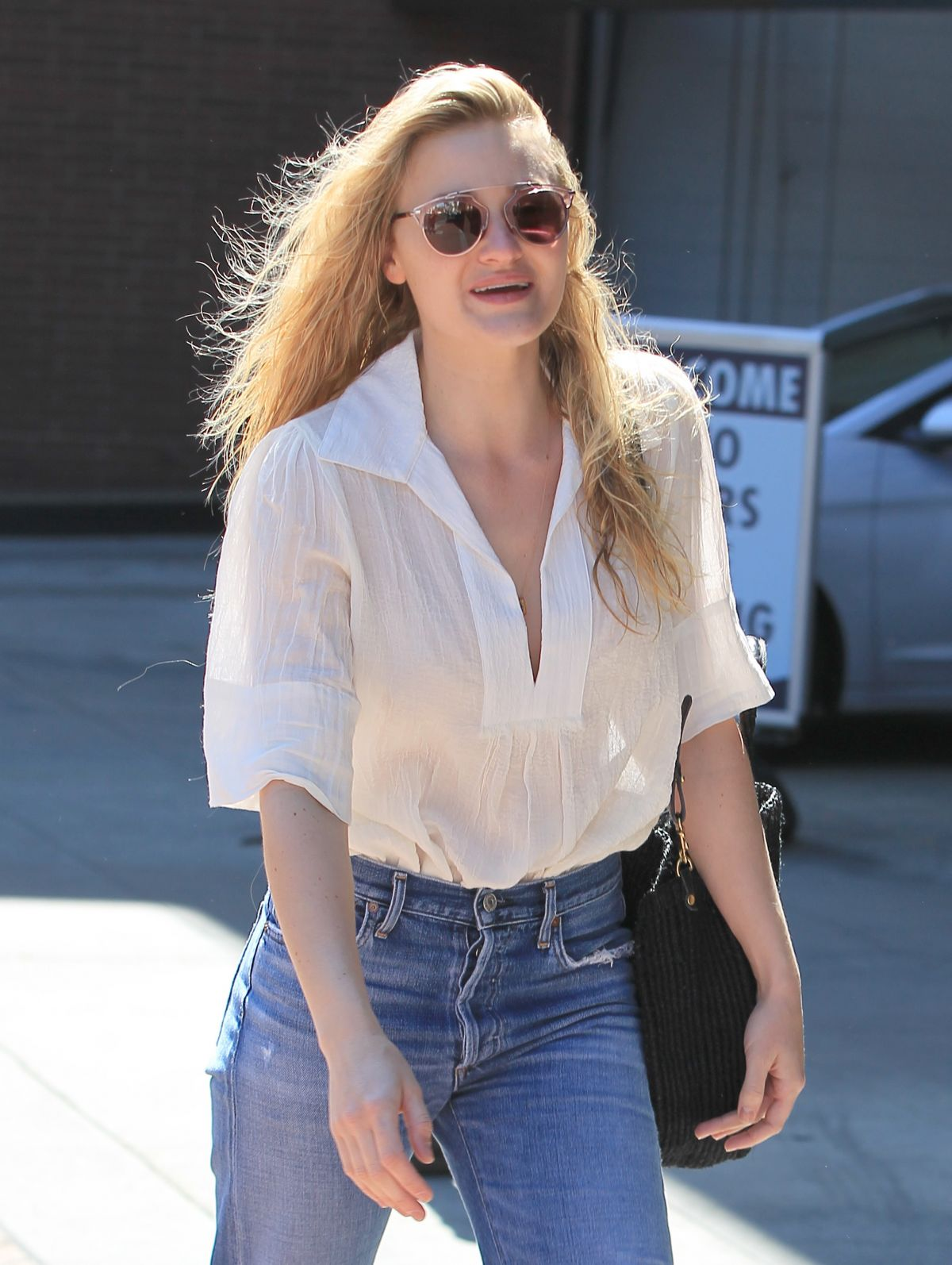 AJ MICHALKA in Jeans Out Shopping in Beverly Hills 03/24 ...