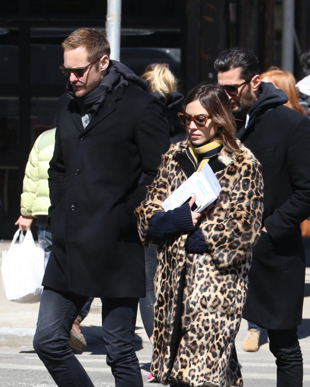 ALEXA CHUNG and Alexander Skarsgard Out in New York 03/23/2017