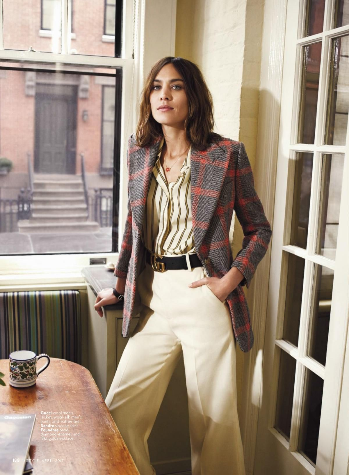 ALEXA CHUNG in Instyle Magazine, April 2017