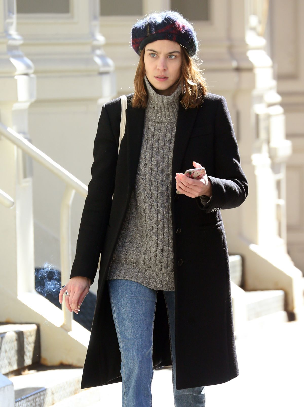 ALEXA CHUNG Out and About in New York 03/20/2017