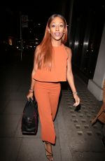 ALEXANDRA BURKE Arrives at Hakkasan Restaurant in London 03/13/2017