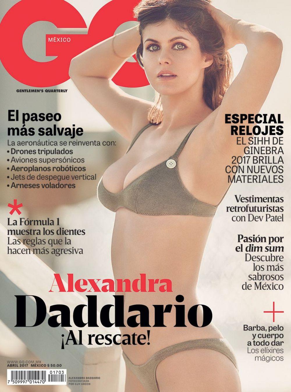 ALEXANDRA DADDARIO in Bikini on the Cover of GQ Magazine, Mexico April 2017