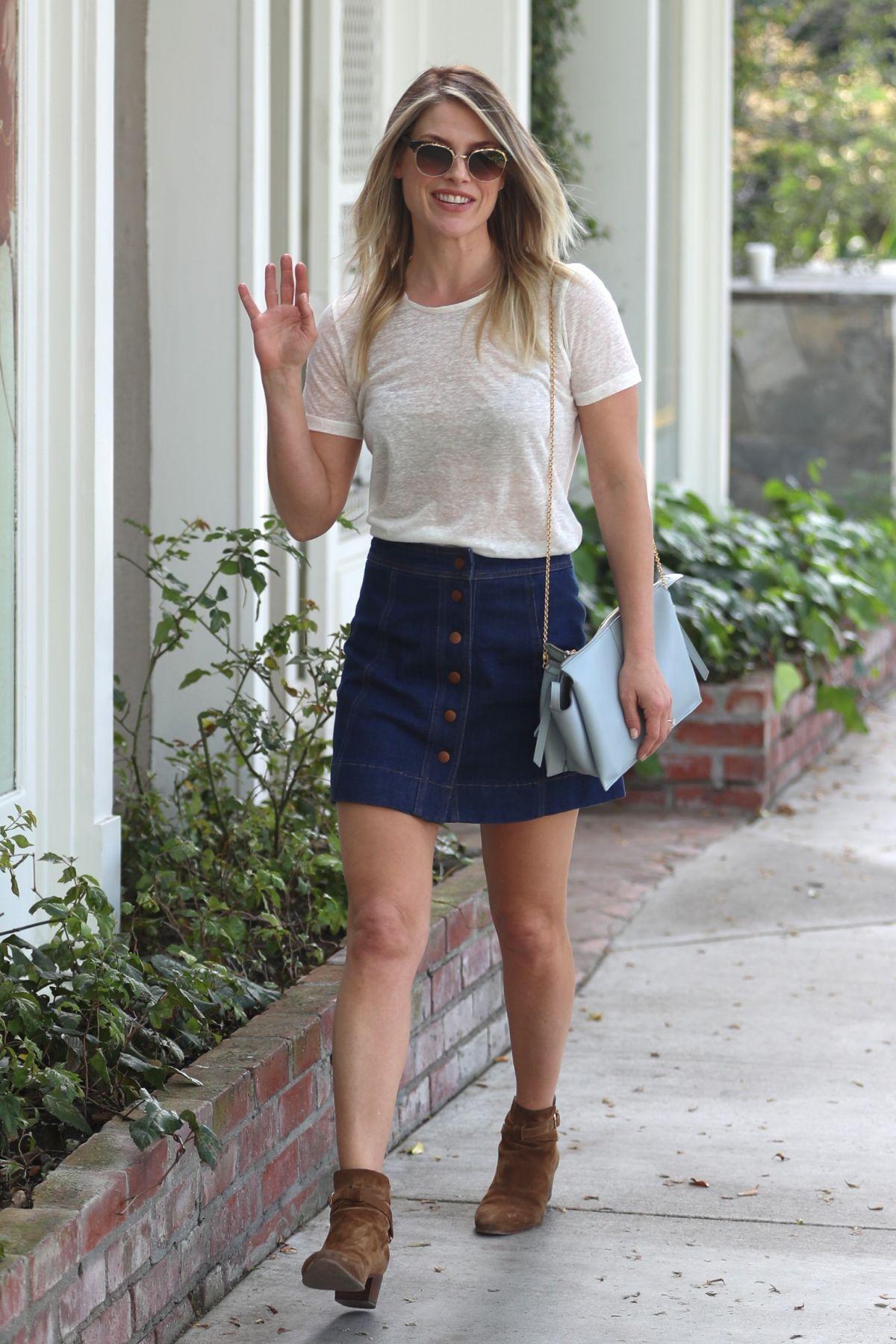ALI LARTER in Denim Skirt Out in West Hollywood 03/14/2017 ...