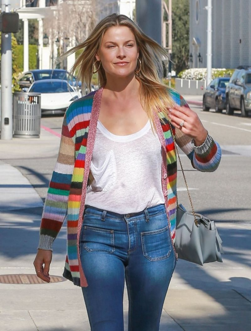 ALI LARTER in Jeans Out in Beverly Hills 03/07/2017