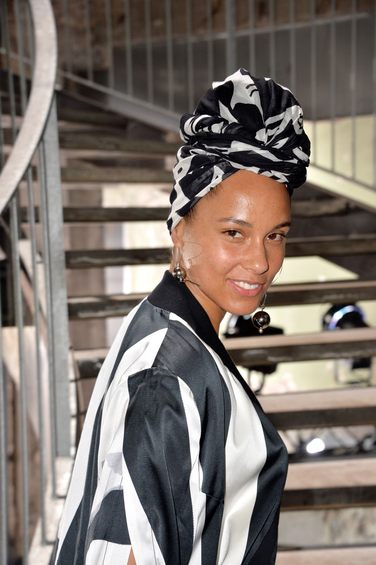 ALICIA KEYS at Rick Owens Fashion Show at PFW in Paris 03/02/2017