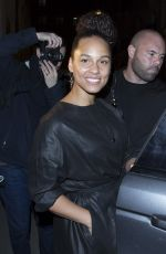 ALICIA KEYS Leave Isabelle Marrant Fashion Show at Paris Fashion Week 03/02/2017