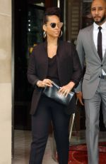 ALICIA KEYS Leaves Royal Monceau Hotel in Paris 03/03/2017