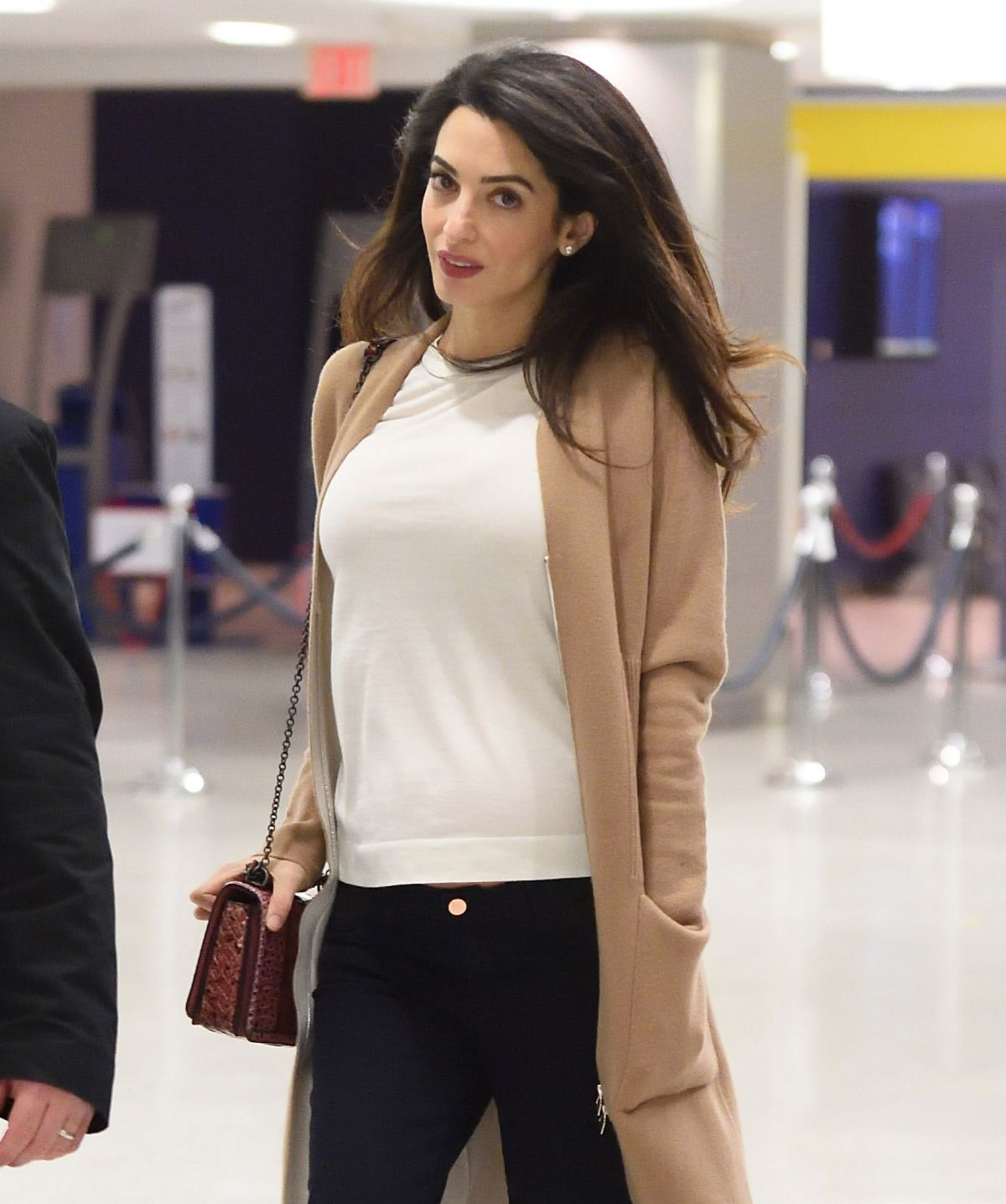 AMAL CLOONEY at JFK Airport in New York 03/11/2017