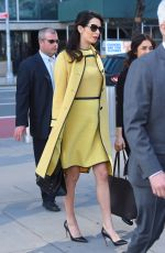 AMAL CLOONEY Leaves Her Hotel in New York 03/09/2017