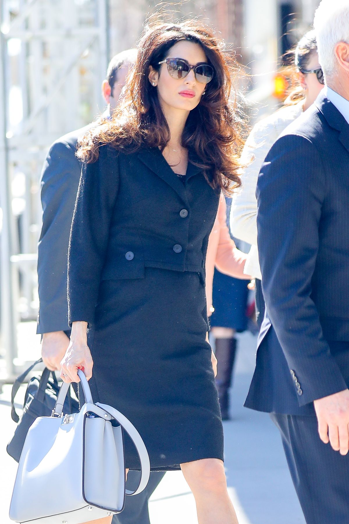AMAL CLOONEY Leaves UN Building in New York 03/08/2017