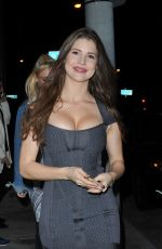 AMANDA CERNY Out for Dinner at Catch LA in Los Angeles 03/25/2017