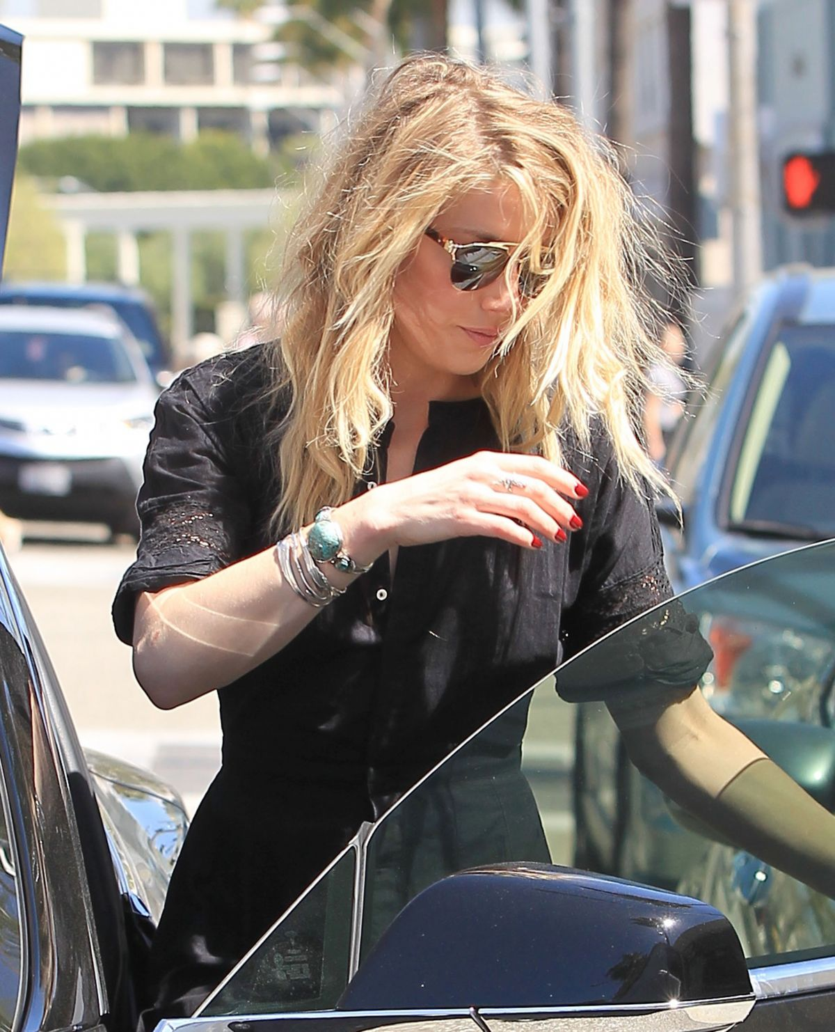 AMBER HEARD Out and About in Beverly Hills 03/29/2017