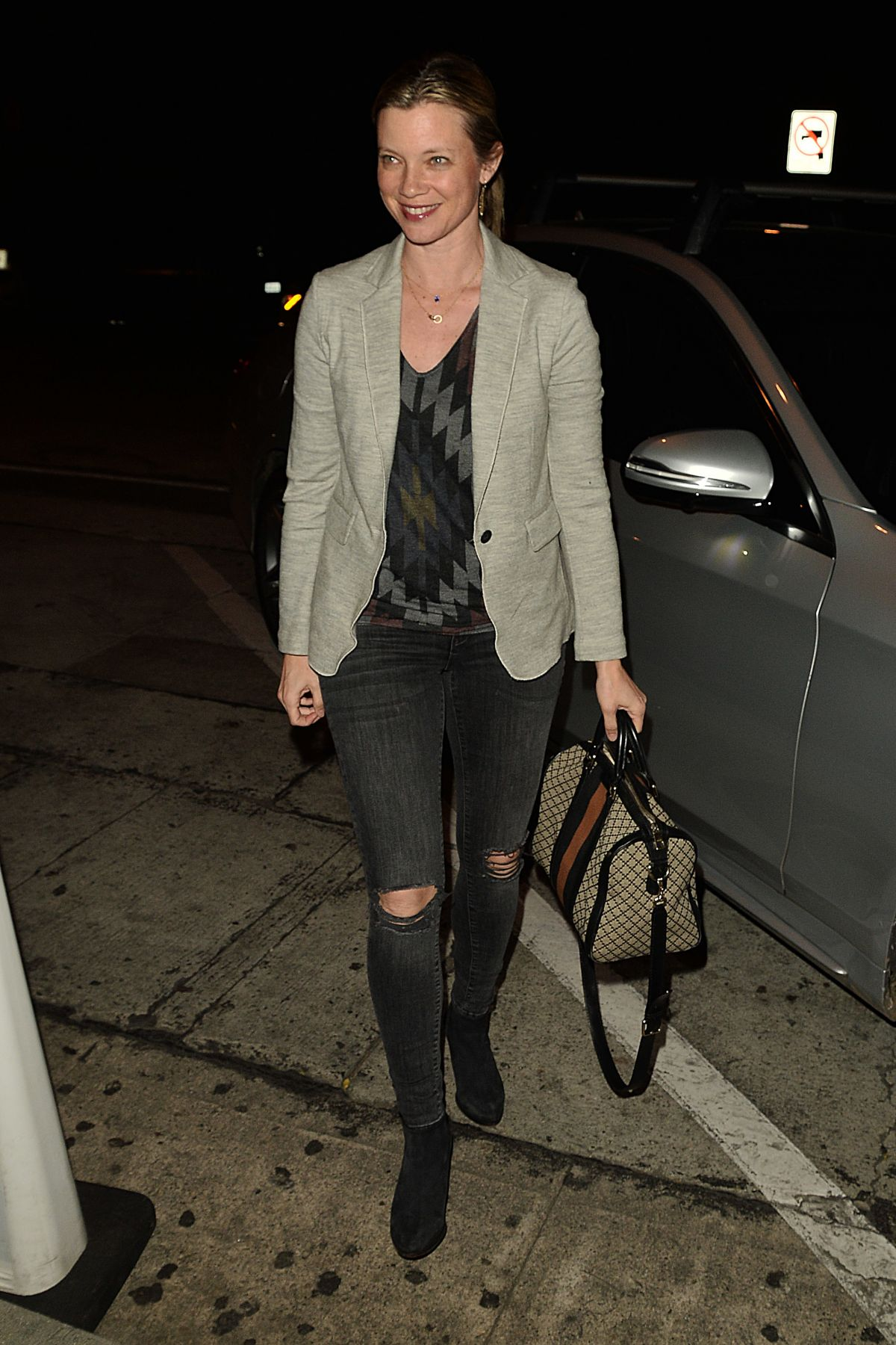 AMY SMART Out for Dinner in West Hollywood 03/06/2017