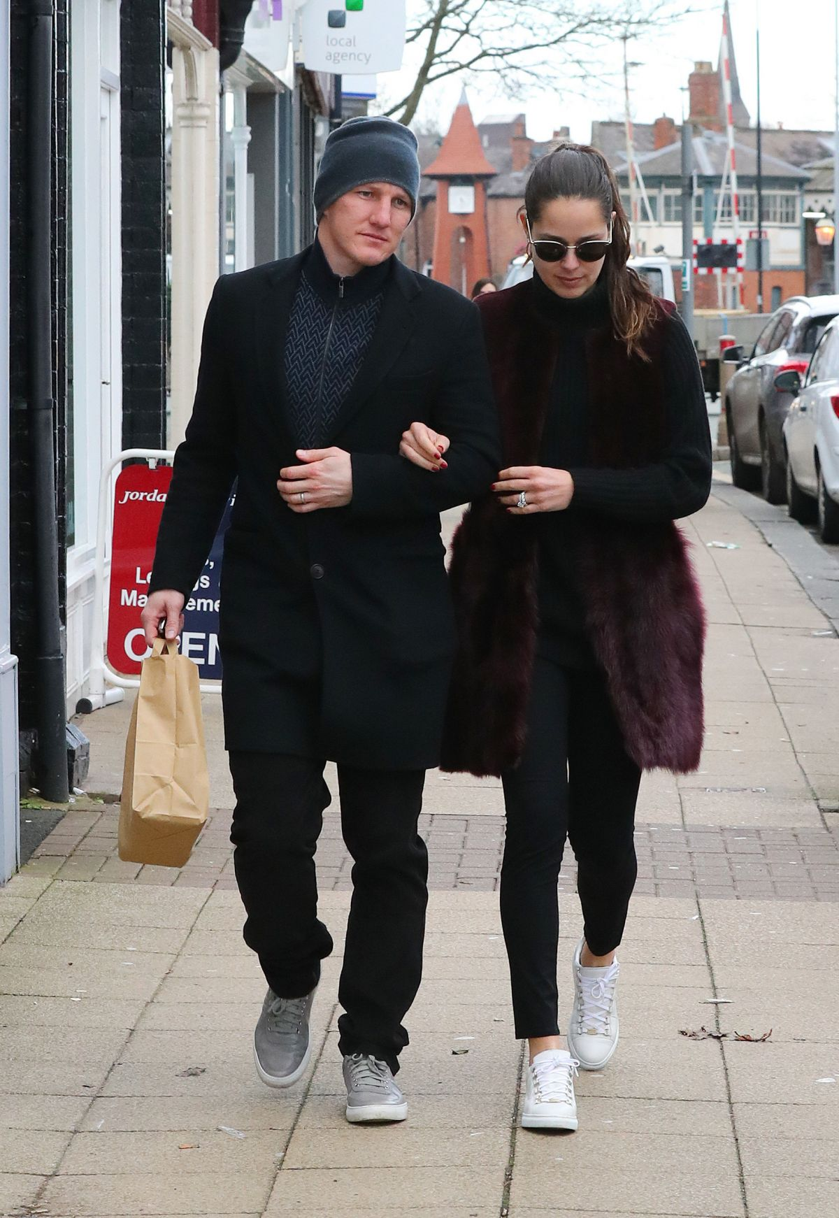 ANA IVANOVIC and Bastian Schweinsteiger at Victors Restaurant in Manchester 03/01/2017