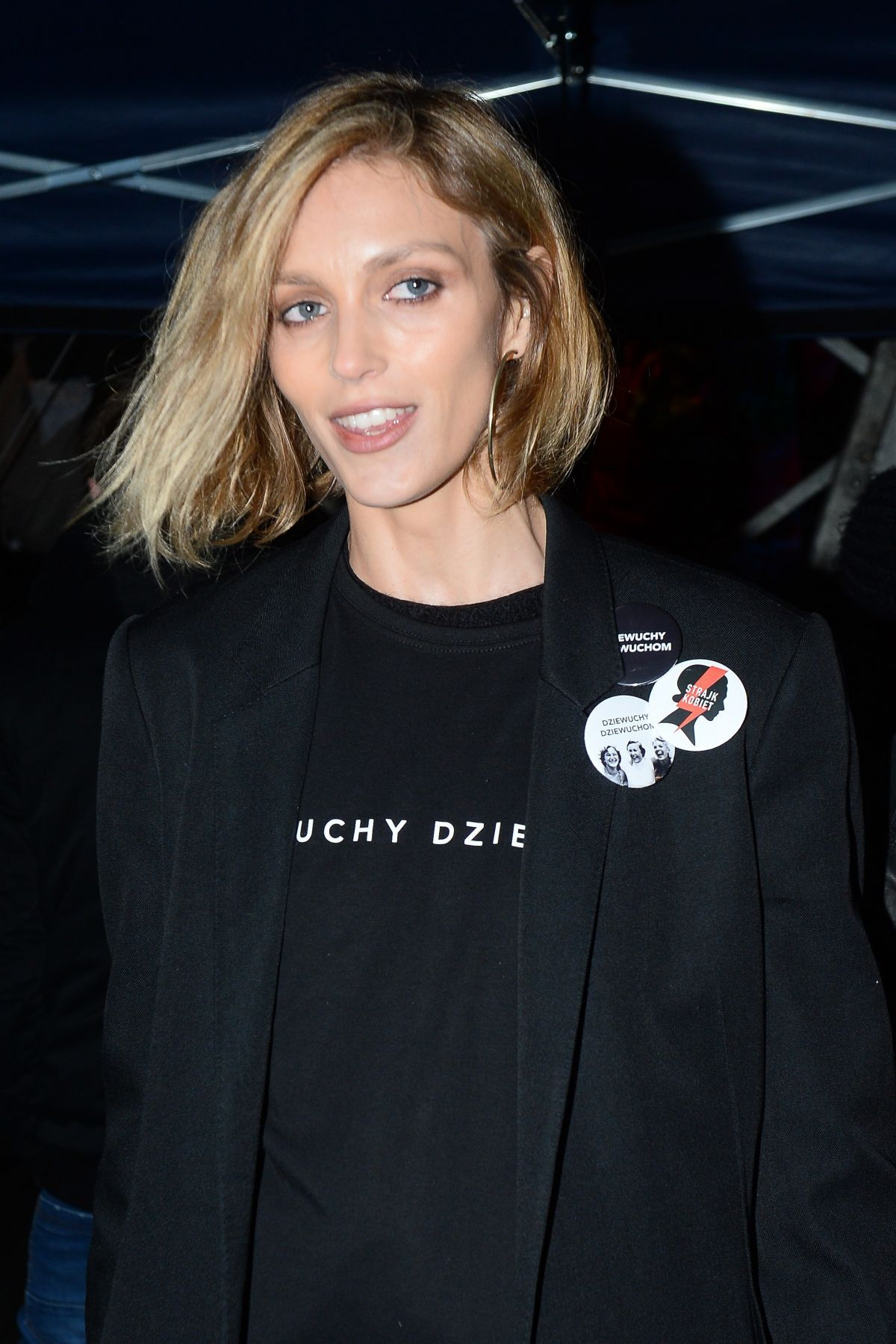 ANJA RUBIK Night Out in Warsaw 08/03/2017