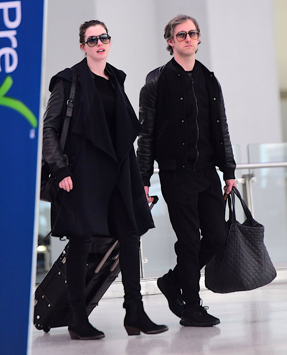 ANNE HATHAWAY At JFK Airport In New York 03/07/2017