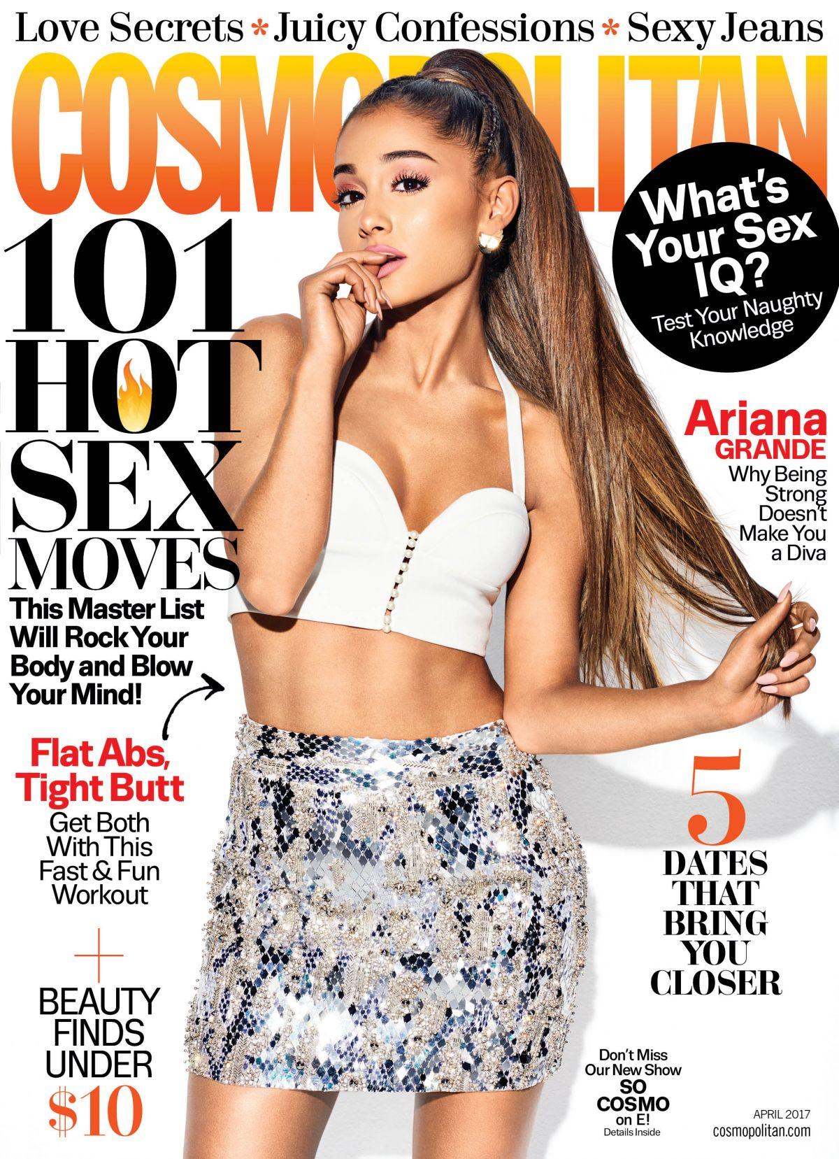 ARIANA GRANDE in Cosmopolitan Magazine, April 2017