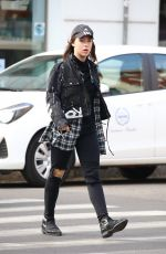 AURORA RAMAZOTTI Out Shopping in Milan 03/22/2017