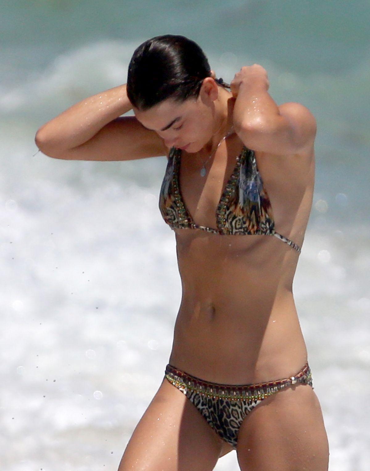 BAMBI NORHWOOD-BLYTH in Bikini on the Beach in Miami 03/30/2017