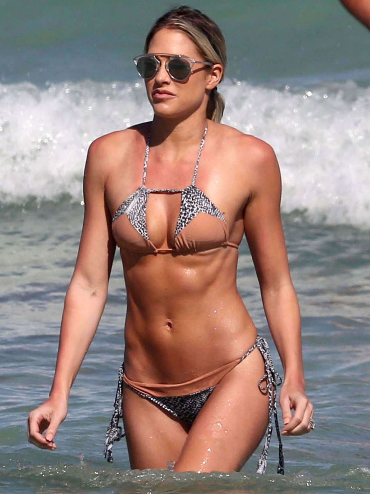 BARBIE BLANK in Bikini on the Beach in Miami 03/02/2017