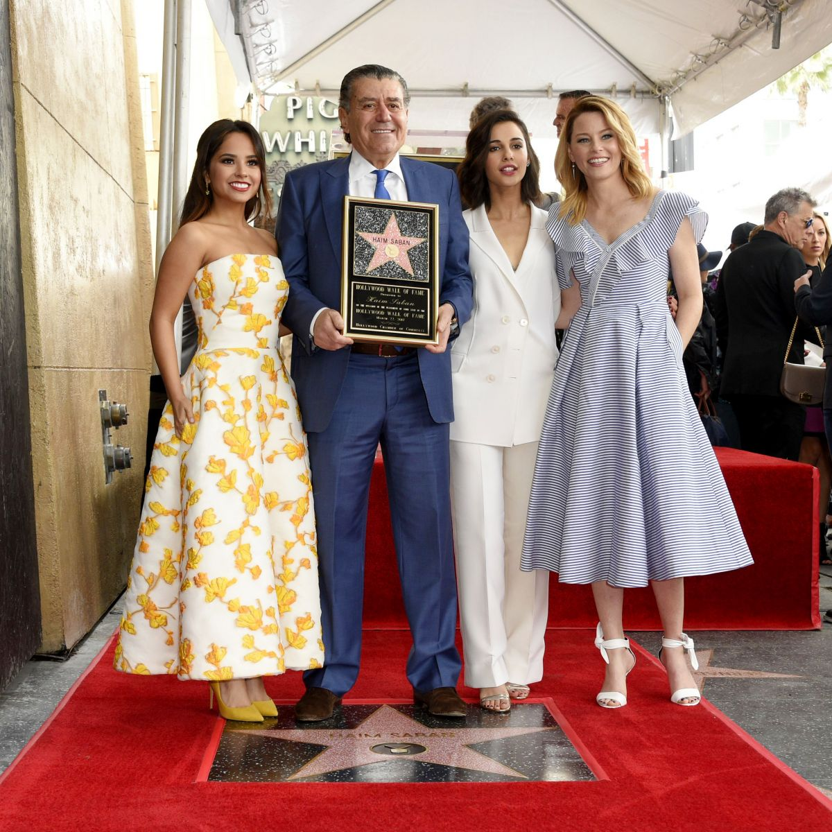 BECKY G, ELIZABETH BANKS, NAOMI SCOTT,and Haim Saban Honored with a Star on Hollywood Walk of Fame in Los Angeles 03/22/2017