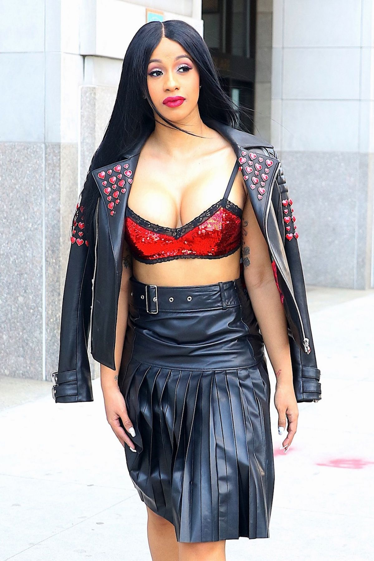 Cardi B Flashes Her New Offset Tattoo Amid Social Media: CARDI B Out And About In New York 03/08/2017