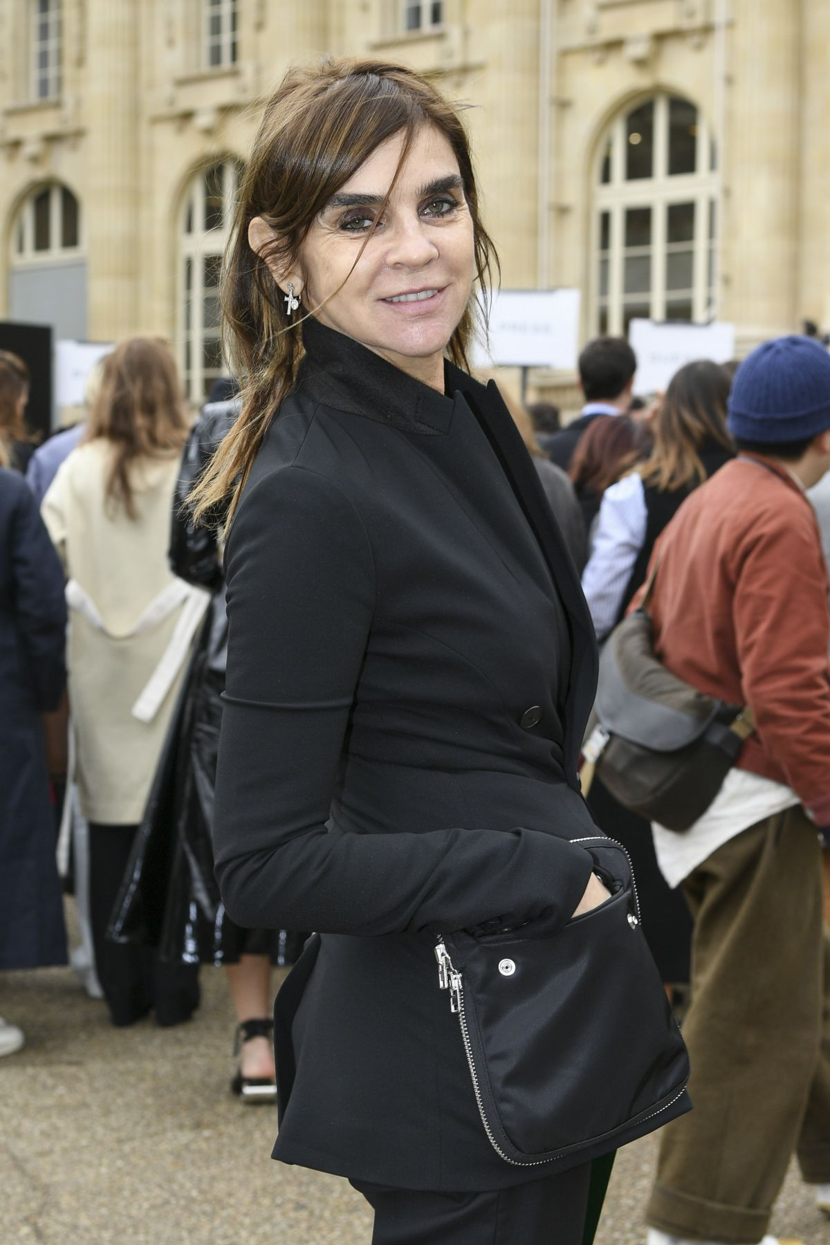 CARINE ROITFELD at Moncler Fashion Show in Paris 03/07/2017