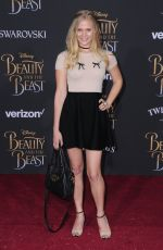 CARLY SCHROEDER at Beauty and the Beast Premiere in Los Angeles 03/02/2017