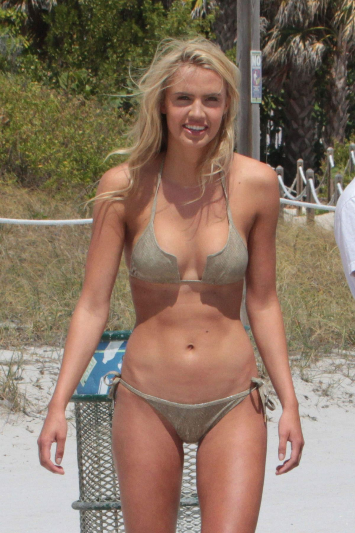 CAROLINA LAVINIA in Bikini on the Set of a Photoshoot in Miami 03/20/2017