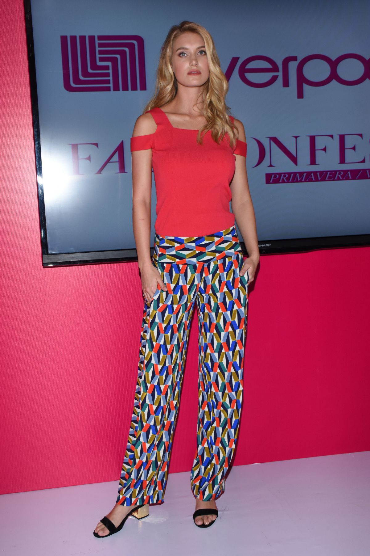CAROLINE LOWE at Liverpool Fashion Fest Press Conference in Mexico City 03/08/2017