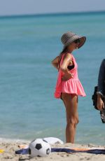 CATHY HUMMELS on the Beach in Miami 03/19/2017