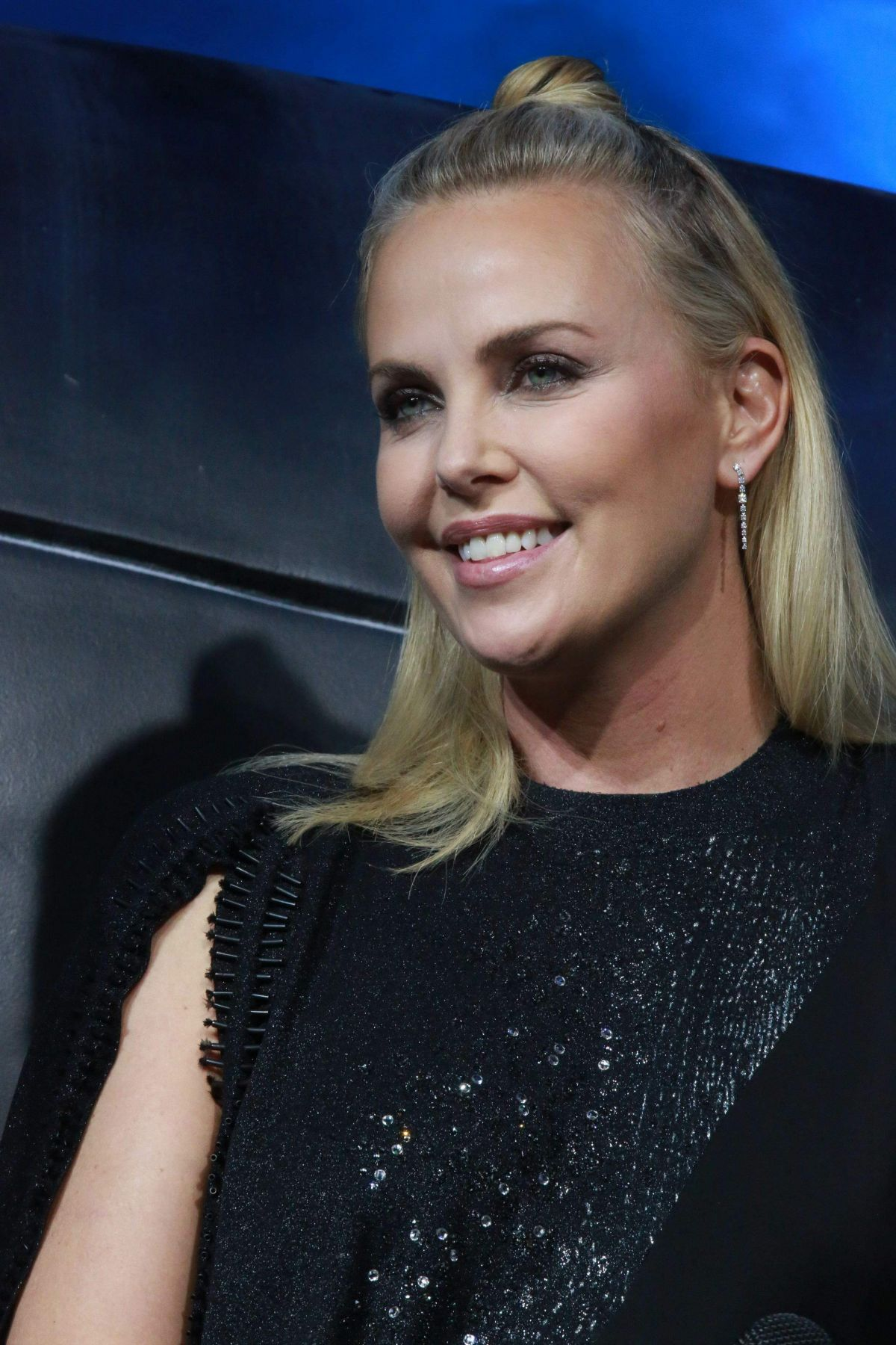 CHARLIZE THERON at The Fate of the Furious Press ... Charlize Theron