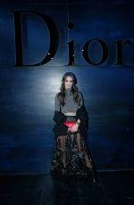 CHARLOTTE LE BON at Christian Dior Fashion Show in Paris 03/03/2017