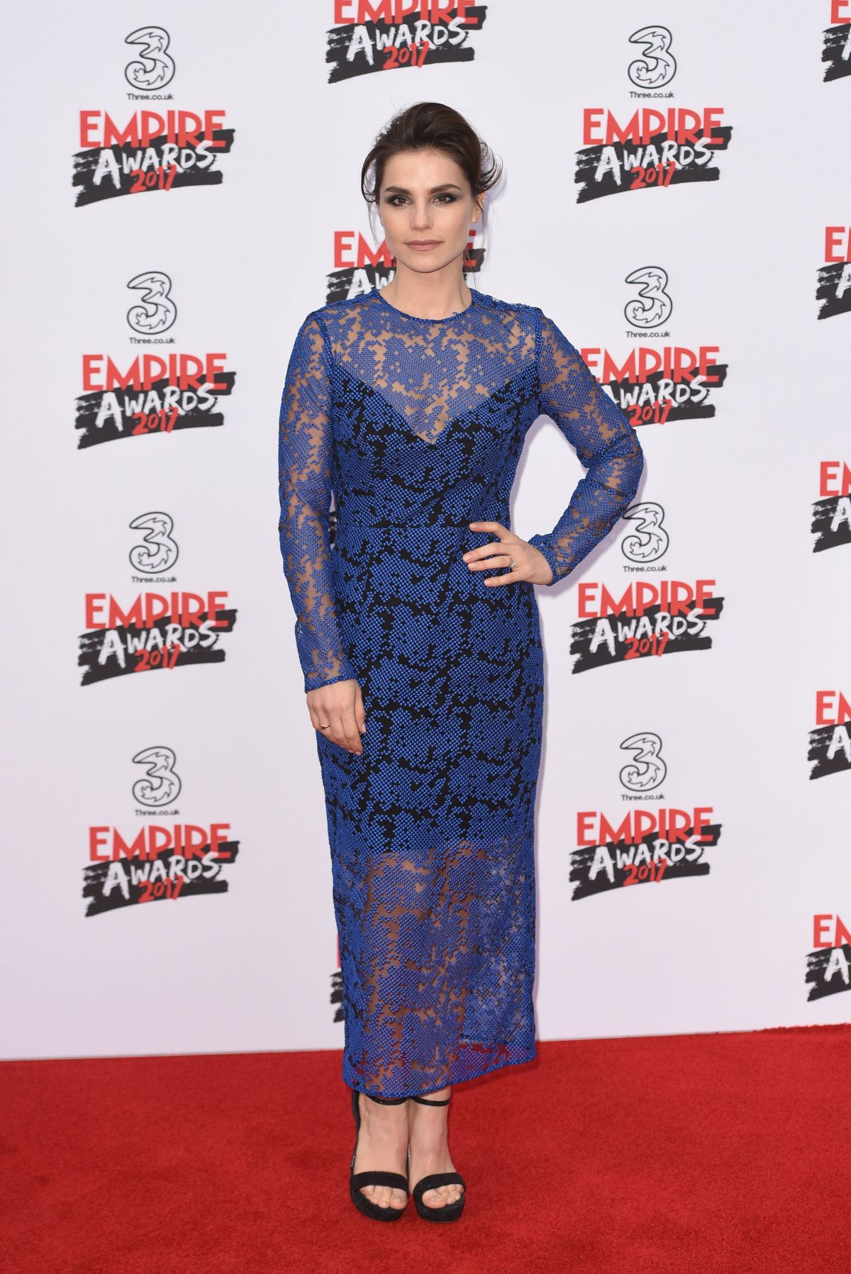 CHARLOTTE RILEY at Three Empire Awards in London 03/19/2017