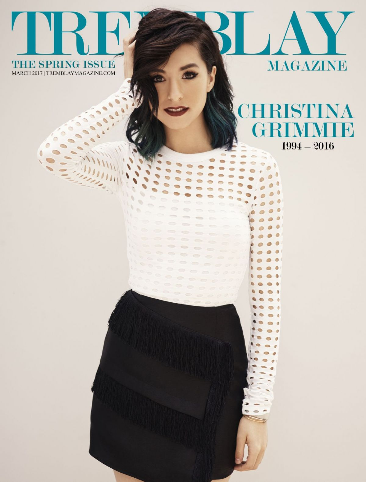 CHRISTINA GRIMMIE in Tremblay Magazine, Spring 2017