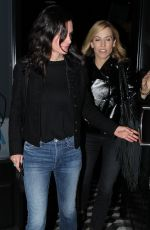 COURTENEY COX and SHERY CROW Out for Dinner in West Hollywood 03/01/2017