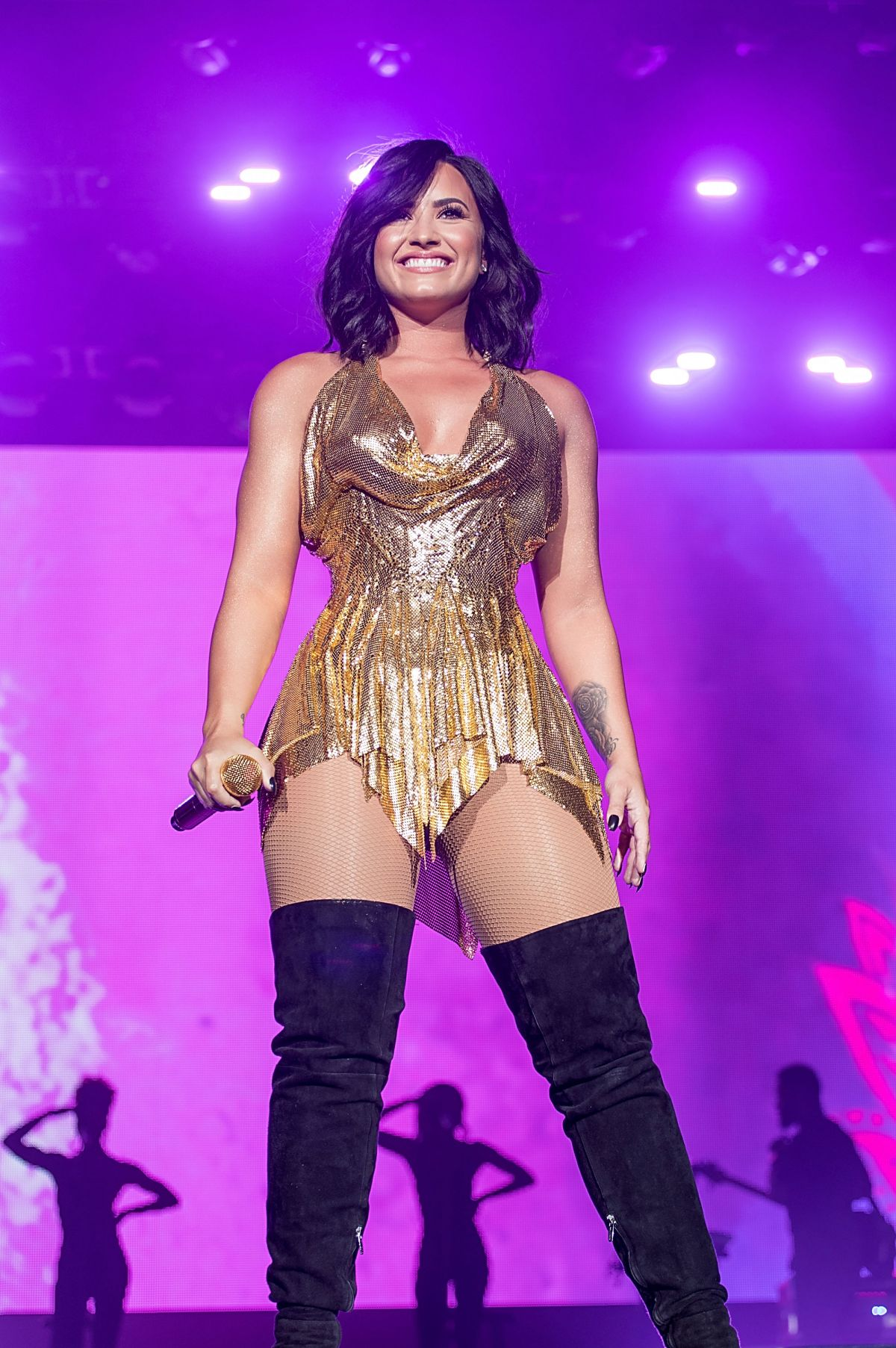 DEMI LOVATO Performs at Beautykind Unites: Concert for Causes in Arlington 03/25/2017